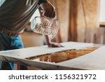 detail of skilled artisan... | Shutterstock . vector #1156321972