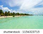 playa norte a popular beach and ... | Shutterstock . vector #1156323715