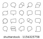 speech bubble thin line icon... | Shutterstock .eps vector #1156325758
