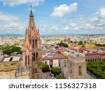san miguel de allende aerial... | Shutterstock . vector #1156327318