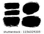 vector set of hand drawn brush... | Shutterstock .eps vector #1156329205