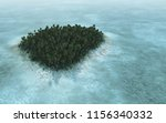3d rendering of a tropical... | Shutterstock . vector #1156340332