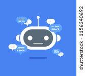 vector modern flat chat bot... | Shutterstock .eps vector #1156340692
