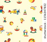 cute seamless pattern with... | Shutterstock .eps vector #1156347832