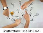 young businessman with creative ... | Shutterstock . vector #1156348465