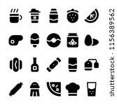foods icons in for any purposes.... | Shutterstock .eps vector #1156389562