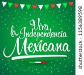 viva la independencia mexicana  ... | Shutterstock .eps vector #1156389598