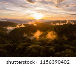 Mist Rising At Sunset After A...