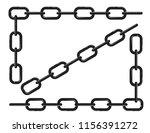 black frame of chains vector... | Shutterstock .eps vector #1156391272
