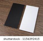 blank flyer over wooden... | Shutterstock . vector #1156392415
