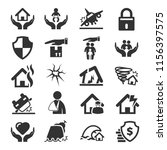 insurance simple icons | Shutterstock .eps vector #1156397575