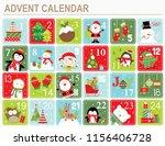 festive advent calendar | Shutterstock .eps vector #1156406728