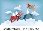 illustration of an airplane... | Shutterstock .eps vector #1156409755