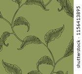 magical flowers seamless... | Shutterstock .eps vector #1156413895
