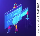 isometric seo specialists... | Shutterstock .eps vector #1156415485