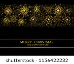 christmas card  golden... | Shutterstock .eps vector #1156422232