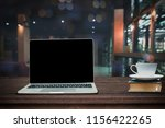 hot cup of coffee on big book...   Shutterstock . vector #1156422265