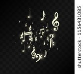 miracle musical notes on black... | Shutterstock .eps vector #1156431085