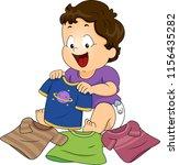 illustration of a kid boy... | Shutterstock .eps vector #1156435282