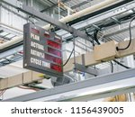 operation ratio display board... | Shutterstock . vector #1156439005