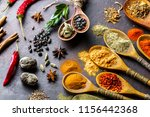 spices for cooking with kitchen ... | Shutterstock . vector #1156442368