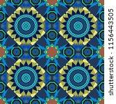 native batik watercolor... | Shutterstock .eps vector #1156443505