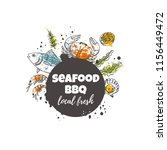 seafood bbq concept design....   Shutterstock .eps vector #1156449472