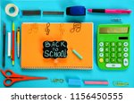 back to school written on... | Shutterstock . vector #1156450555