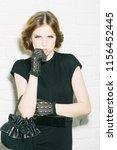 glamour concept. glamour girl... | Shutterstock . vector #1156452445