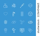 science icon. collection of 16... | Shutterstock .eps vector #1156454665