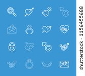 romance icon. collection of 16... | Shutterstock .eps vector #1156455688