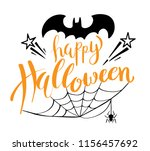 happy halloween vector... | Shutterstock .eps vector #1156457692