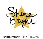 shine bright text and star... | Shutterstock .eps vector #1156462342