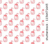 seamless pattern with smoothie... | Shutterstock .eps vector #1156471645