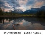 the beauty of banff. the three...   Shutterstock . vector #1156471888