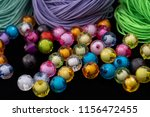 beads  colorful beads on a... | Shutterstock . vector #1156472455