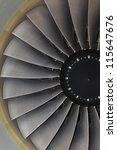 background turbine blades jet... | Shutterstock . vector #115647676