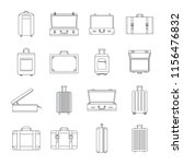 suitcase travel luggage bag... | Shutterstock .eps vector #1156476832