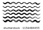 grunge waves collection....   Shutterstock .eps vector #1156484455