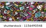 cartoon vector doodles art and...   Shutterstock .eps vector #1156490548