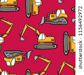 hand drawn grips and bulldozers ... | Shutterstock .eps vector #1156492972