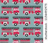 Hand Drawn Fire Trucks Seamles...