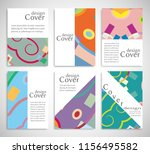 set of a4 cover  abstract... | Shutterstock .eps vector #1156495582