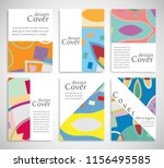 set of a4 cover  abstract... | Shutterstock .eps vector #1156495585