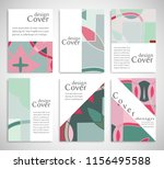 set of a4 cover  abstract... | Shutterstock .eps vector #1156495588