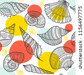 vector seamless pattern with... | Shutterstock .eps vector #1156497775