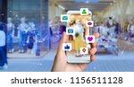 social media concept. | Shutterstock . vector #1156511128