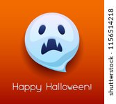 happy halloween angry ghost.... | Shutterstock .eps vector #1156514218