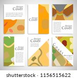 set of a4 cover  abstract... | Shutterstock .eps vector #1156515622