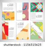 set of a4 cover  abstract... | Shutterstock .eps vector #1156515625